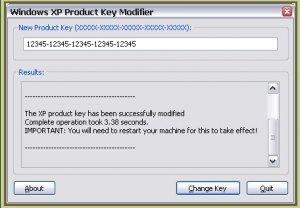 windows xp pro activation keys
