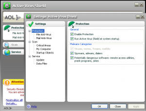 active virus shield by aol versin 6.0.0.299