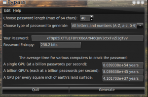 If you have 40 char pswd and attacker knows length how long