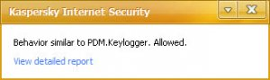 Kaspersky reported Key-logger PDM   What to do ?? | Wilders Security