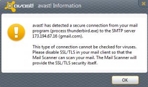 Help! avast with Thunderbird error | Wilders Security Forums