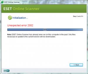 Eset Online scanner Problem? | Wilders Security Forums