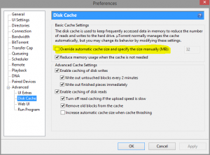 utorrent how can lower the impact of I/O of my ssd drive