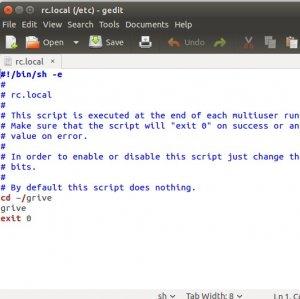 runnings commands on ubuntu start up | Wilders Security Forums