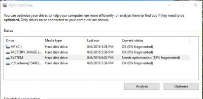 how to defrag windows 10 system drive