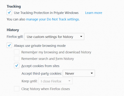 Issues with Firefox in Private Browsing Mode | Wilders Security Forums