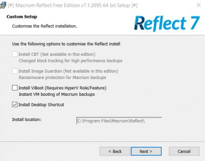 macrium reflect free v6 vs v7