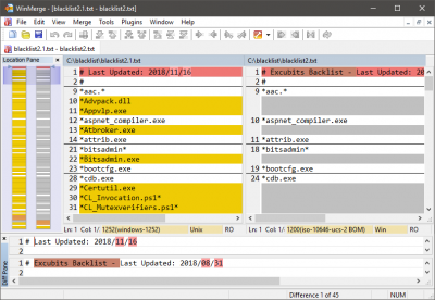 WinMerge - differencing and merging tool | Wilders Security Forums