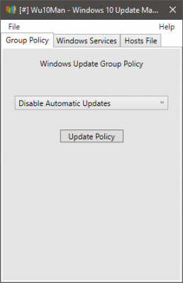 disable windows 10 updates software