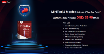 Promotional: MiniTool & McAfee Announce Joint Promotion on